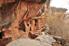 Habited пещеры в Африке Стоковые Фото
