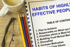 Habits of highly successful people Stock Photo