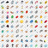 100 habits icons set, isometric 3d style. 100 habits icons set in isometric 3d style for any design vector illustration stock illustration