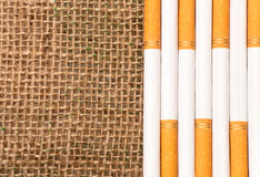 Habitual Harvest. Cigarettes and Basket Agricultural Concept and healthcare/medical presentations Stock Photography