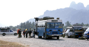 Habituellement style de vie au Laos Photos libres de droits