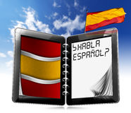 Habla Español? - Tablet Computer Royalty Free Stock Photo