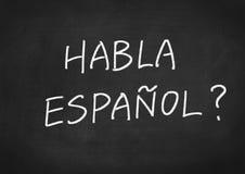 Habla Espanol? do you speak Spanish? Royalty Free Stock Photos