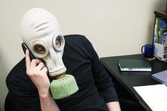 Habla por el teléfono Foto de archivo libre de regalías