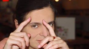 Hablar de fotografía Foto de archivo libre de regalías