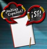 Hablas Espanol - Two Speech Bubbles Royalty Free Stock Photo