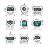 Hable el programa del bot de la charla Bot de la charla del servicio de asistencia, atención al cliente virtual de la ayuda en lí Imágenes de archivo libres de regalías