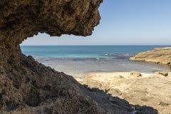 Habonim海滩 库存照片