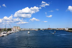 Habor in Boston. MA, USA stock images