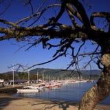 Habor of de jachthaven van Paraty Stock Foto
