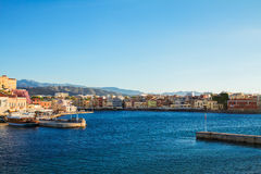 habour of Chania, Crete, Greece Stock Photo
