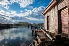 Habour de Waikawa. Mer en île du sud Newzealnd de côte du sud Photo stock