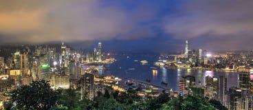 habour Hong Kong victoria Arkivbilder