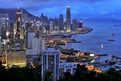 habour Hong Kong victoria Royaltyfria Bilder