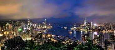 habour Hong Kong victoria Arkivfoto