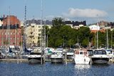 Habour view of helsinki Stock Image