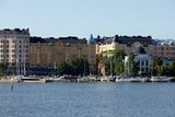 Habour view of helsinki Royalty Free Stock Images