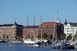 Habour view of helsinki Stock Photo