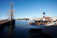 Habour widok Helsinki Obrazy Royalty Free