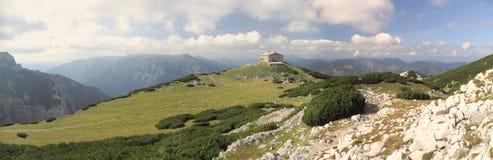 Habsburg moutnain hut in Rax Alps stock photo
