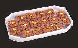 Habshi Halwa in Box Stock Images