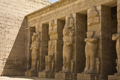 Habu temple. Details of Egyptian art. An example of the art of the pharaohs Royalty Free Stock Photography