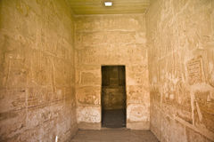 Habu temple. Details of Egyptian art. An example of the art of the pharaohs Royalty Free Stock Photos