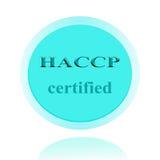 HACCP bestätigte Ikonen- oder Symbolbildkonzeptdesign mit Geschäft Lizenzfreie Stockfotografie
