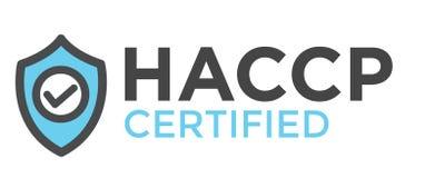 HACCP - ?cone cr?tico dos pontos de controle da an?lise de perigo com concess?o ou sinal ilustração do vetor