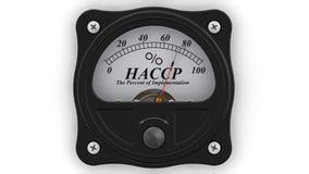 Haccp Die Prozente der Durchführung stock video footage