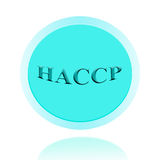 HACCP-Ikonen- oder Symbolbildkonzeptdesign mit Geschäftsfrauen FO Stockfoto