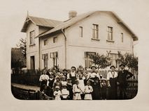 hace 100 años imagen de archivo