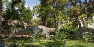 Hace años jurásicos/171-161 millones de Omeisaurus-medios En el D Imagen de archivo libre de regalías