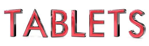 Hace tabletas la palabra 3d libre illustration