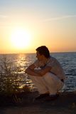 Hacer frente a una salida del sol Fotografía de archivo libre de regalías