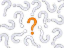 Hacer la pregunta correcta Foto de archivo