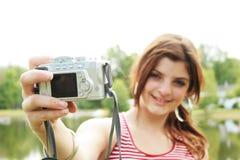 Hacer un retrato de uno mismo Foto de archivo libre de regalías