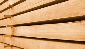 Haces de madera apilados Imagen de archivo libre de regalías