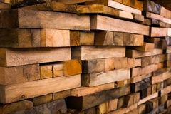 Haces de madera del edificio Foto de archivo