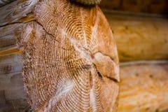 Haces de madera en la casa Fotografía de archivo libre de regalías