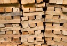 Haces de madera llenados Imagen de archivo libre de regalías