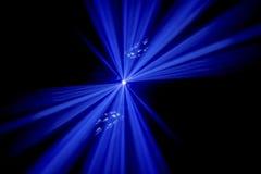 Haces luminosos azules Fotografía de archivo libre de regalías