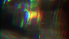 Haces luminosos vibrantes del vhs, distorsión al azar, concepto ruidoso de la TV almacen de metraje de vídeo