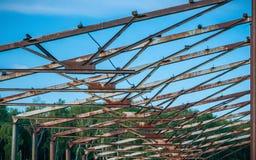 Haces oxidados del metal Imagen de archivo libre de regalías
