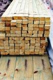 Haces procesados de la madera Foto de archivo