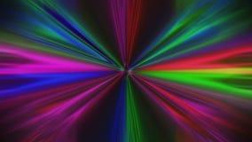 Haces que pulsan abstractos coloridos, rayas estilizadas Papel pintado vivo hipn?tico metrajes