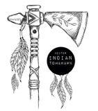 Hacha de guerra india nativa Arma india Tienda extrema del deporte Imagenes de archivo