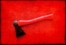 Hacha roja Imagenes de archivo