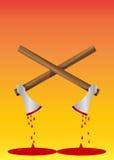 Hacha sangrienta, ilustración Imagen de archivo libre de regalías