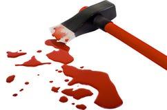 Hacha y sangre Imágenes de archivo libres de regalías